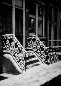 Snowy stairs - Amsterdam (KSWN-012-1\1)