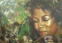 Jazz Art - Denise in green