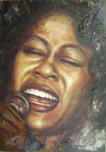 Jazz Art - Denise in black