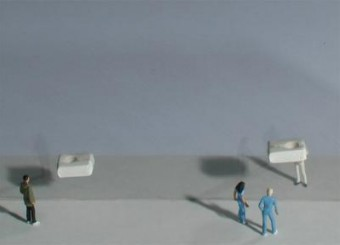 Phase 4 (transformation) / model of white elemente for Rotterdam / Baum 4 & 5