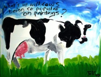 What's Up? (with cows being so popular on paintings)