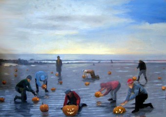 Pumpkin Harvest on Beach