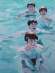 Beatles swimming