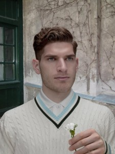 Man with white carnation (after Memling)