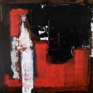 abstract rood zwart