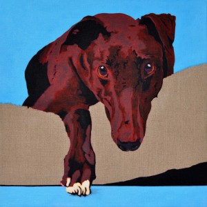 White Paw - portrait of a Greyhound 6