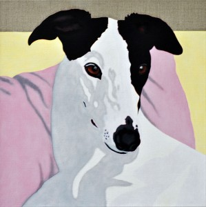 Kate - portrait of a Greyhound 7