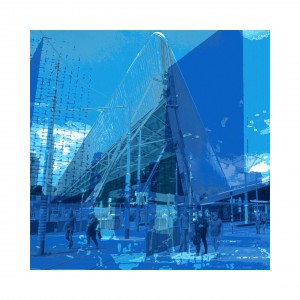 'Rotterdam Blue 1.' - grafiek in digitale print