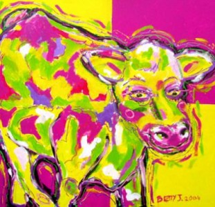 cow yellow/pink