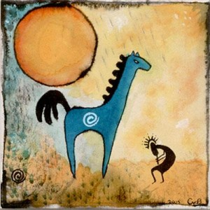 Kokopelli And The Horse Spirit