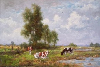 Hollands plassenlandschap met vee - 0632 -