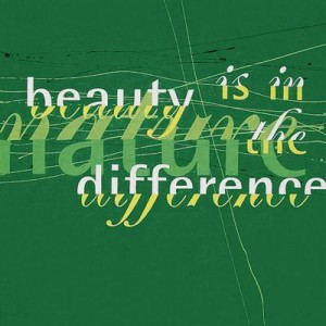 beauty is in the difference