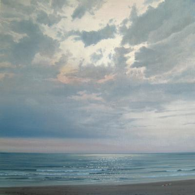 122)zee lucht en strand van Dick van Belle