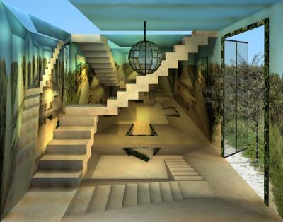 Lisette huizenga trappenhuis schilderijen - Decoratie van trappenhuis ...