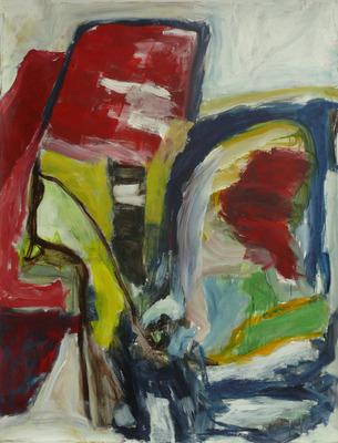 Wonderbaarlijk Benfo - 'Water-barrage' - groot rustig abstract schilderij AW-26