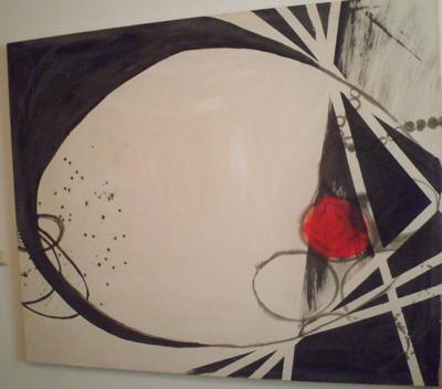 schilderen zwart wit