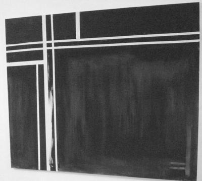 Ongekend Danielle Volkers- Overvoorde - abstract zwart wit schilderij RZ-73