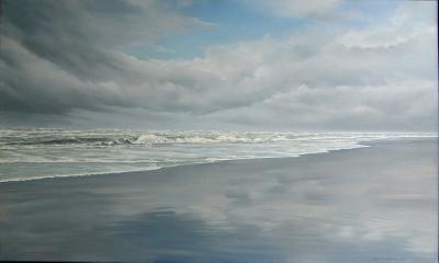 39) zee en strand van Dick van Belle