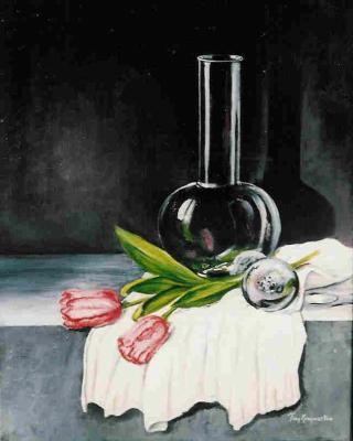 tulpen glas impressionisme