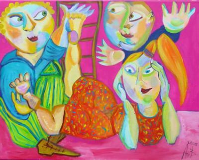 Verbazingwekkend Annelies van Biesbergen - spelende kinderen (schilderijen/acryl) LX-87